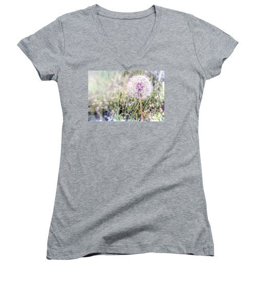 Dandilion Wishes Women's V-Neck (Athletic Fit)