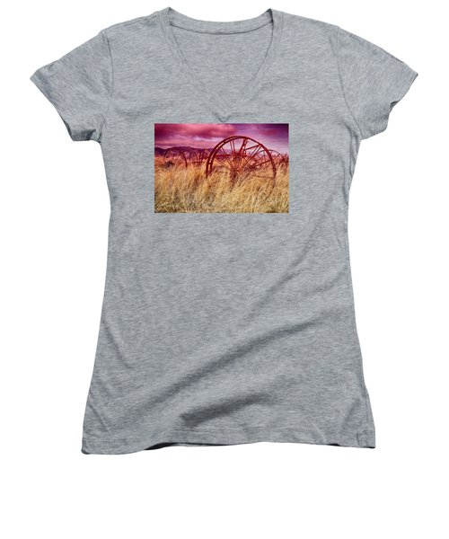 Dangberg Home - Farm Machinery Women's V-Neck (Athletic Fit)