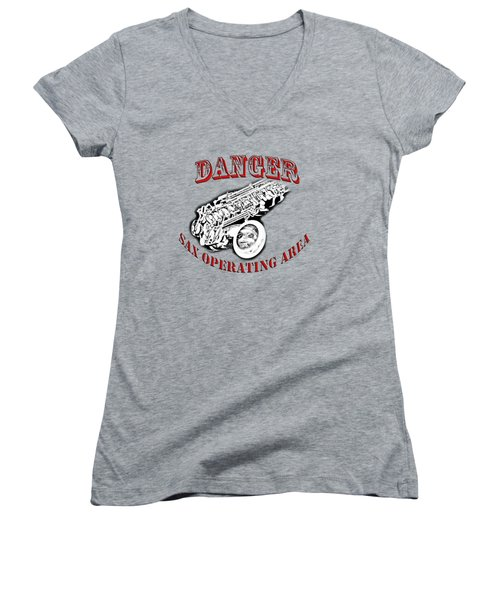Danger Sax Operating Area Women's V-Neck (Athletic Fit)