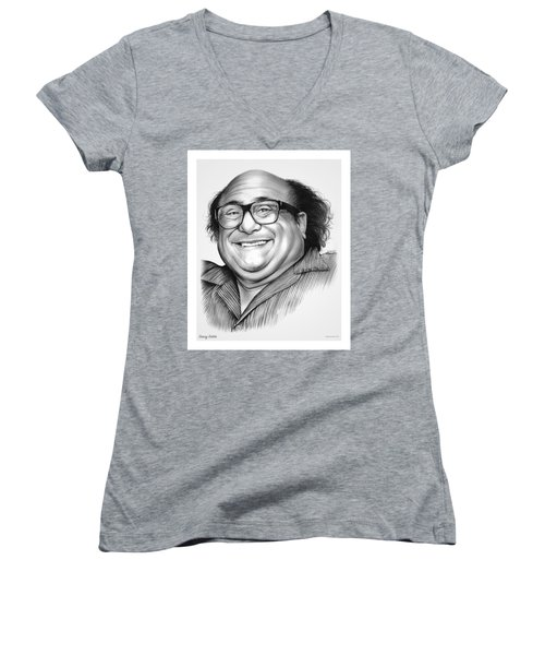 Danny Devito Women's V-Neck T-Shirt (Junior Cut) by Greg Joens