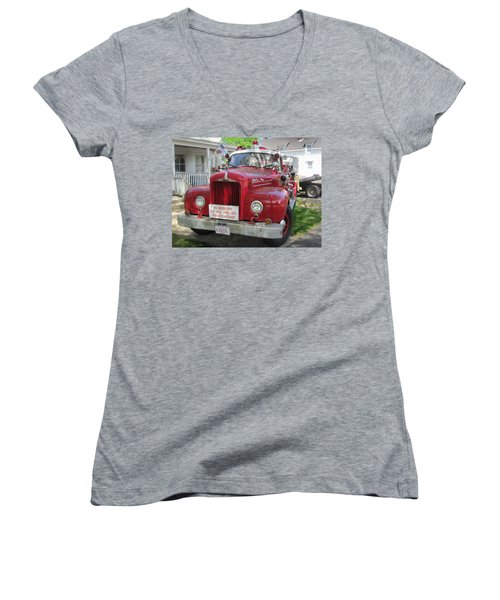 Danvers - Old Fire Engine Women's V-Neck T-Shirt