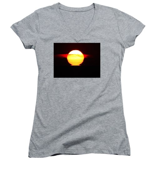 Dark Sunrise Women's V-Neck T-Shirt