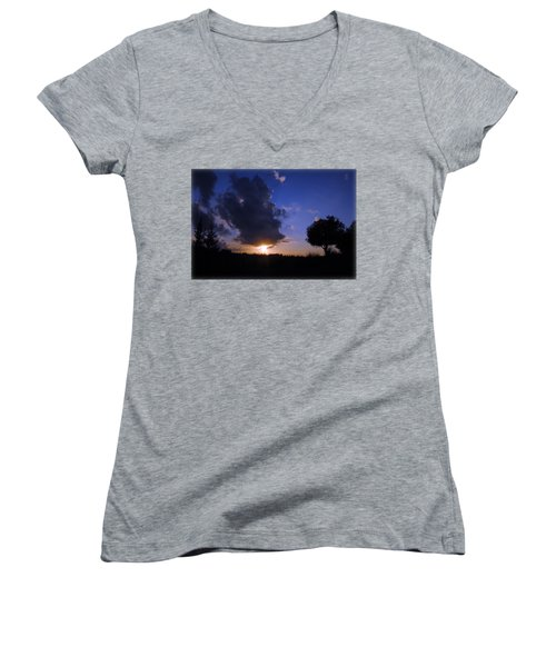 Dark Sunset T-shirt 2 Women's V-Neck T-Shirt