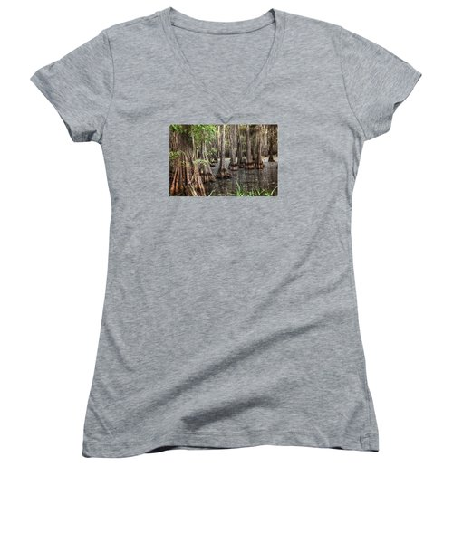 Dark Swamp Women's V-Neck (Athletic Fit)