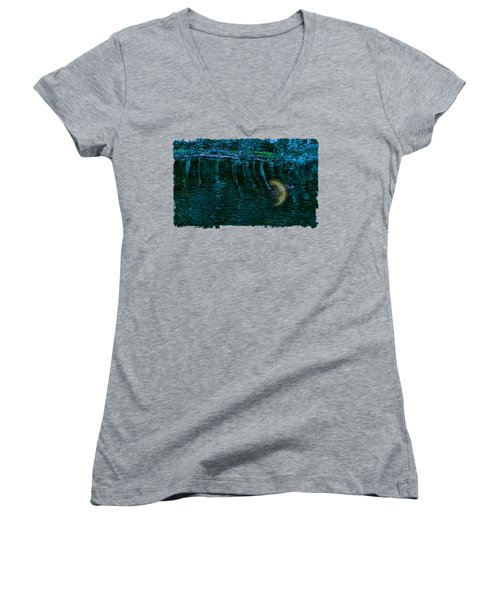 Dark Waters 2 Women's V-Neck T-Shirt (Junior Cut)