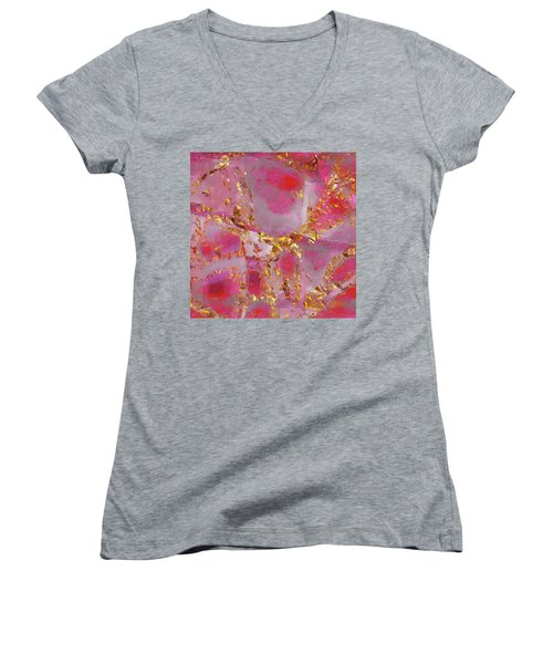 Dauntless Pink Women's V-Neck T-Shirt