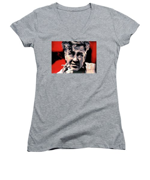 David Lynch Women's V-Neck T-Shirt