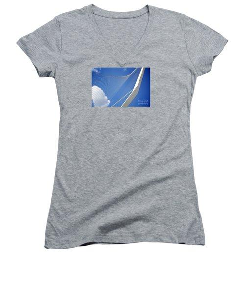 David's Harp Women's V-Neck T-Shirt