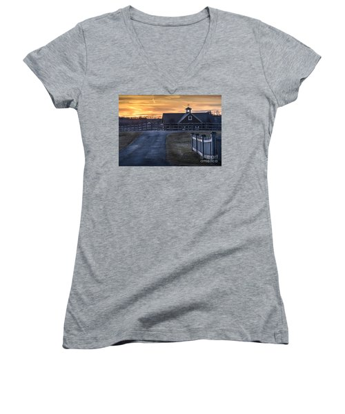 Dawn Breaking Women's V-Neck T-Shirt