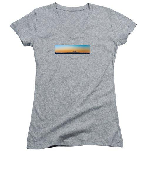 Dawn Breaks Women's V-Neck T-Shirt (Junior Cut) by James Heckt