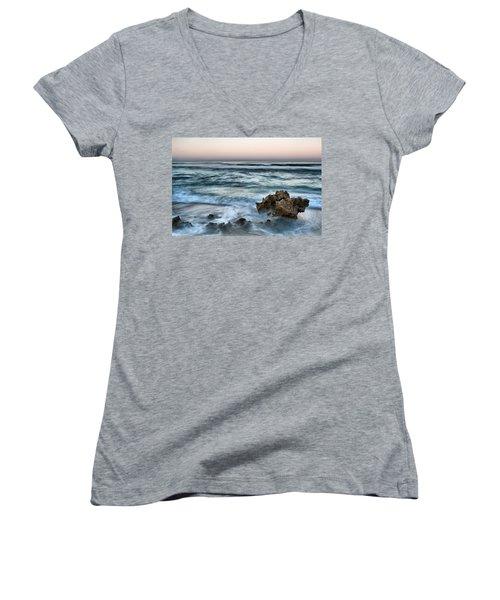 Dawn's Elegance Women's V-Neck T-Shirt (Junior Cut) by Kym Clarke