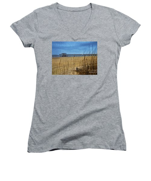 Day At The Beach Women's V-Neck T-Shirt