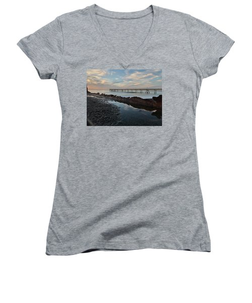 Day At The Pier Women's V-Neck (Athletic Fit)