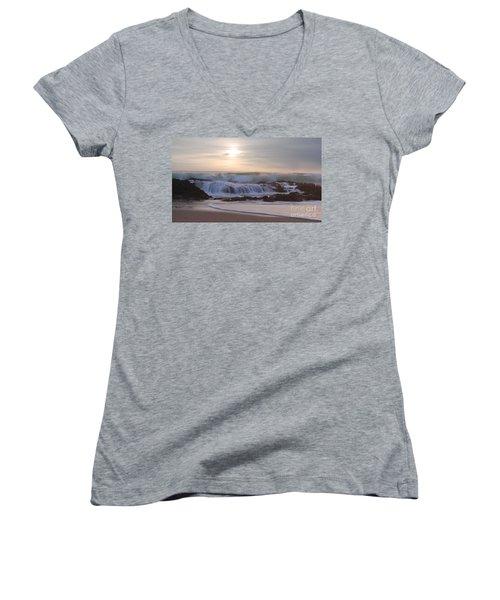 Day Break Paradise Women's V-Neck T-Shirt (Junior Cut) by Kym Clarke