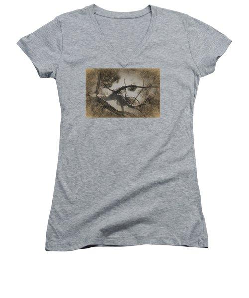 Day Dreaming Women's V-Neck T-Shirt (Junior Cut) by Ernie Echols