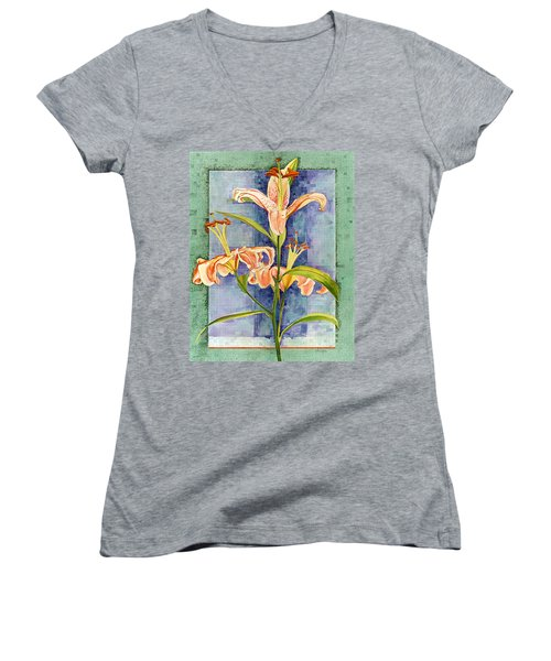 Day Lily Women's V-Neck T-Shirt