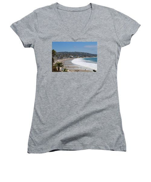 Day On The Beach Women's V-Neck (Athletic Fit)