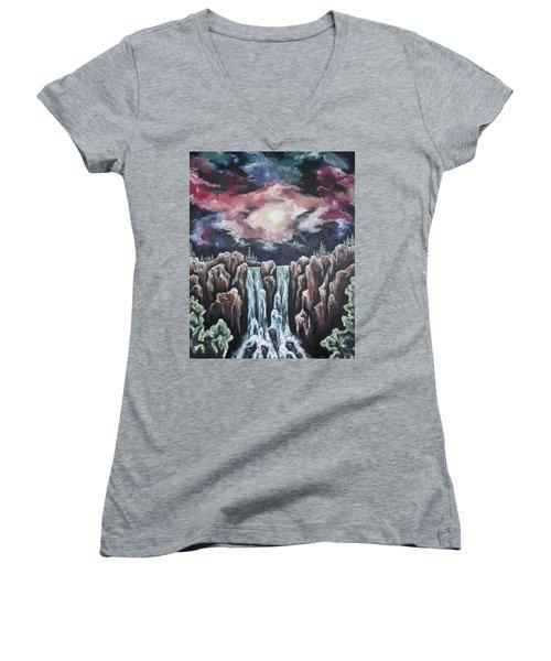 Day One, Sky Diamonds Women's V-Neck T-Shirt