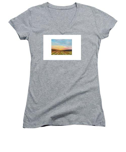Days Last Rays Women's V-Neck T-Shirt