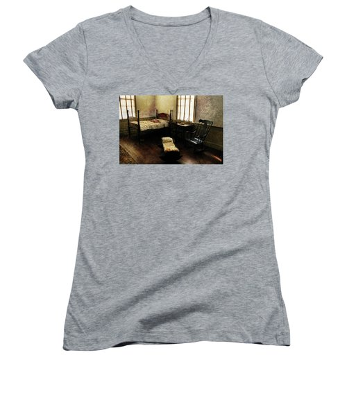 Days Of Old Women's V-Neck T-Shirt (Junior Cut) by Jessica Brawley