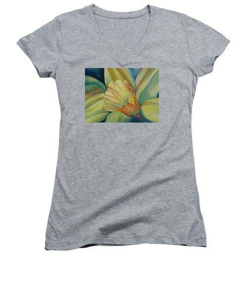 Dazzling Daffodil Women's V-Neck