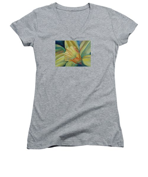 Dazzling Daffodil Women's V-Neck (Athletic Fit)