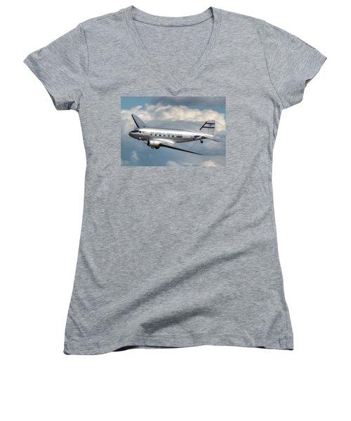 Dc-3 Women's V-Neck T-Shirt