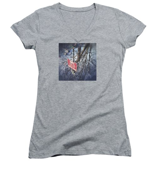 Dead End Women's V-Neck T-Shirt (Junior Cut) by RKAB Works