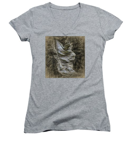 Dead Leaf Women's V-Neck T-Shirt (Junior Cut)