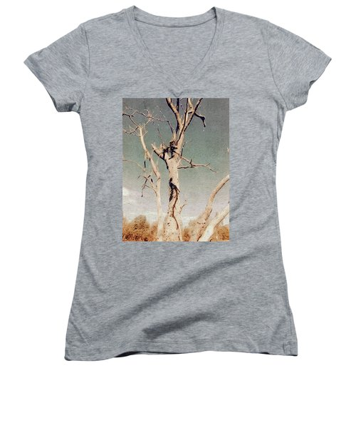 Dead Tree, Outback. Women's V-Neck (Athletic Fit)