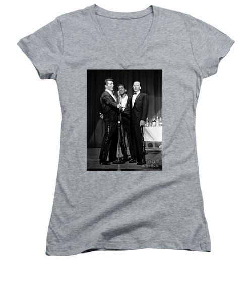 Dean Martin, Sammy Davis Jr. And Frank Sinatra. Women's V-Neck