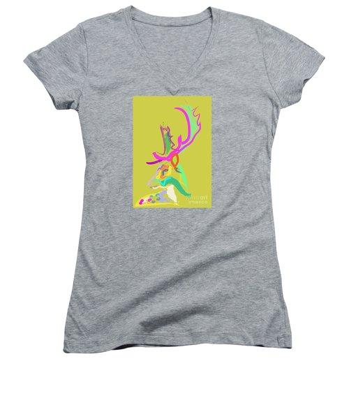 Dear Deer Women's V-Neck T-Shirt
