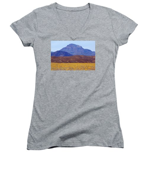 Death Valley Superbloom 201 Women's V-Neck T-Shirt