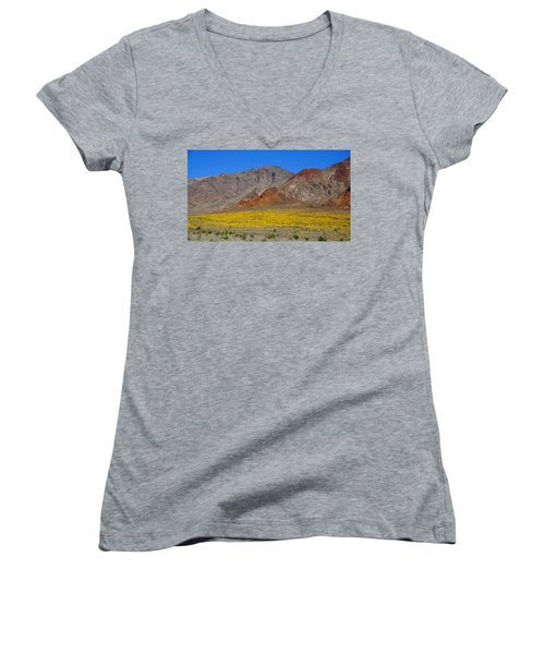 Death Valley Superbloom Women's V-Neck (Athletic Fit)