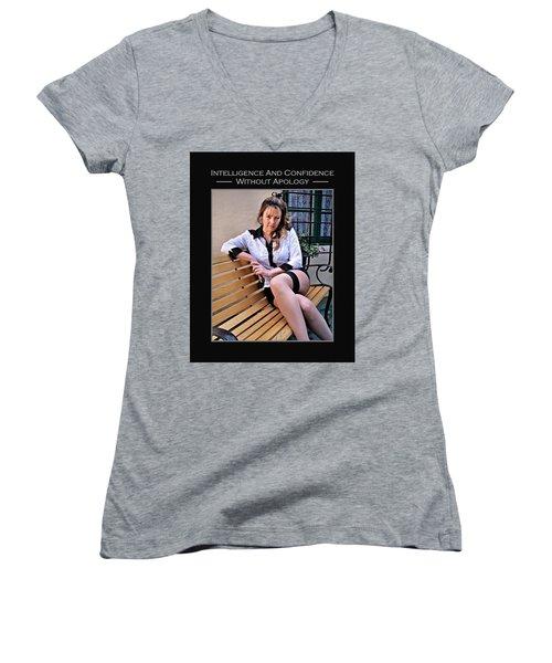 Debra Valentine 1-14 Women's V-Neck T-Shirt (Junior Cut) by David Miller