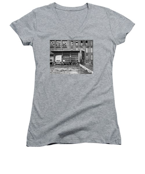 Women's V-Neck T-Shirt featuring the photograph Decay by Lora Lee Chapman