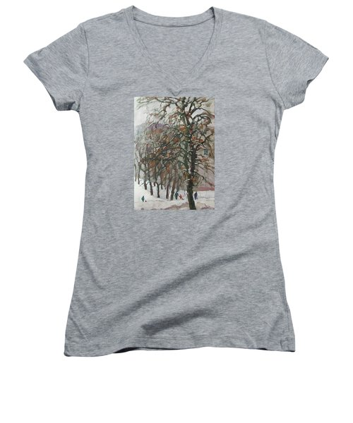 December Women's V-Neck T-Shirt