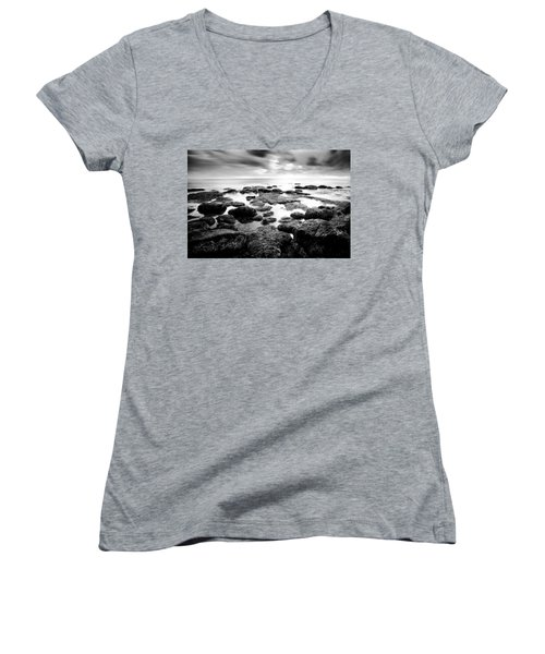 Women's V-Neck T-Shirt (Junior Cut) featuring the photograph Decisions by Ryan Weddle