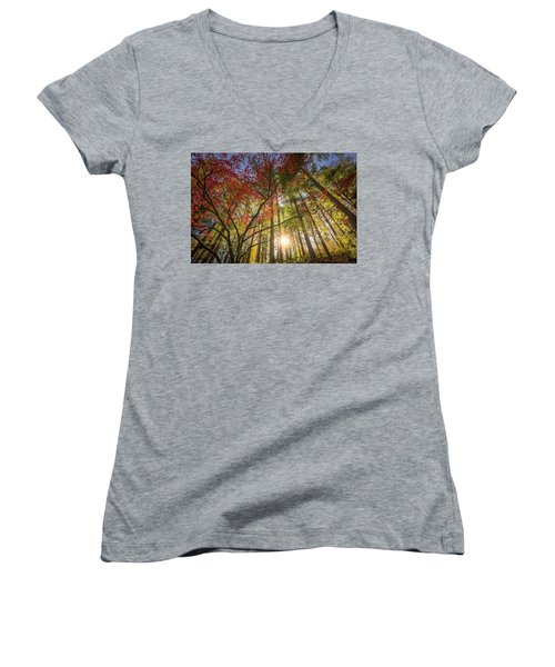 Decorated By Japanese Maple Women's V-Neck (Athletic Fit)