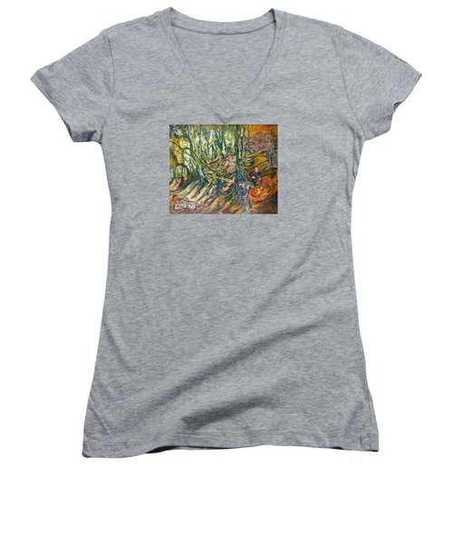 Dedicated To The Memory Of Cecil The Lion Women's V-Neck (Athletic Fit)