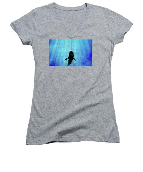 Deep Blue Sea Women's V-Neck