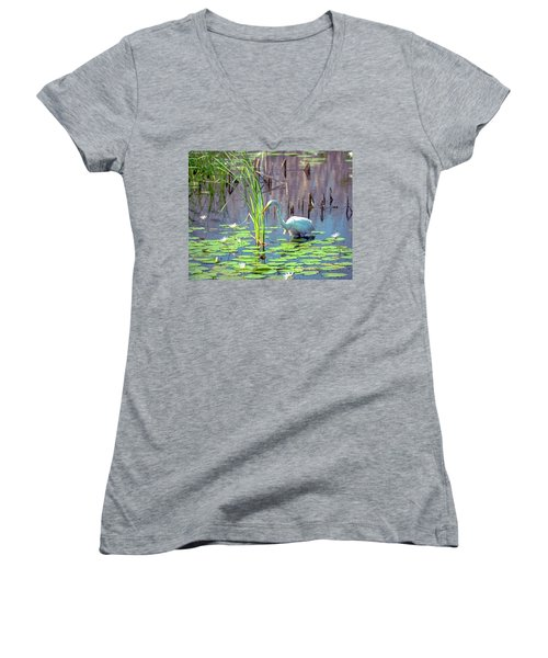 Deep In The Water Women's V-Neck (Athletic Fit)