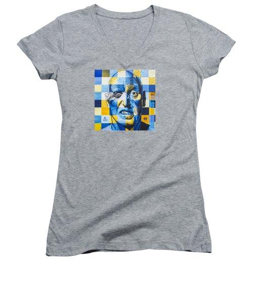 Deep Rawlins Women's V-Neck T-Shirt (Junior Cut) by Steve Hunter
