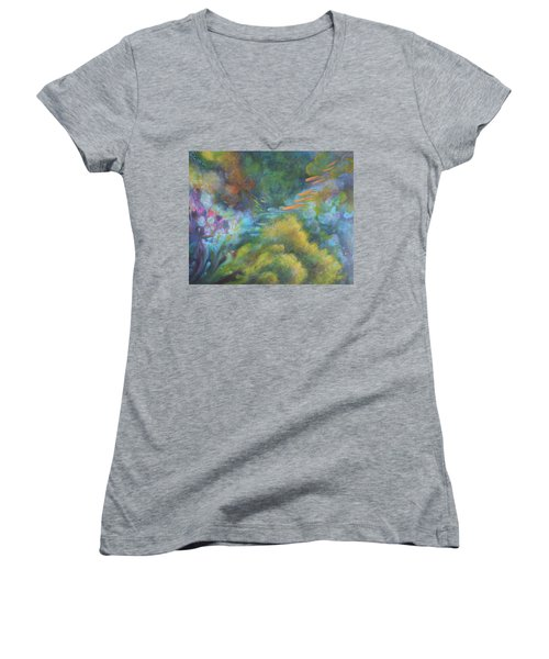 Deep Sea Women's V-Neck (Athletic Fit)