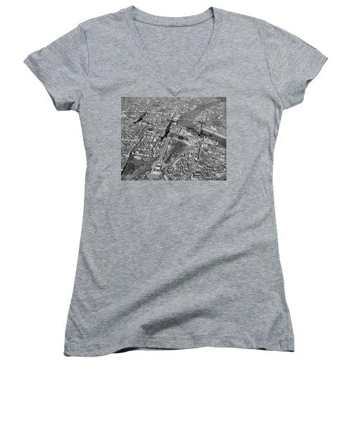 Women's V-Neck T-Shirt (Junior Cut) featuring the photograph Defence Of The Realm by Gary Eason