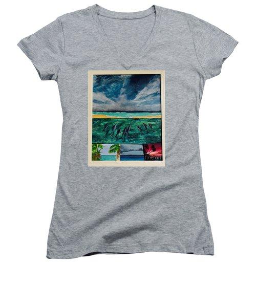 Delfin Women's V-Neck T-Shirt