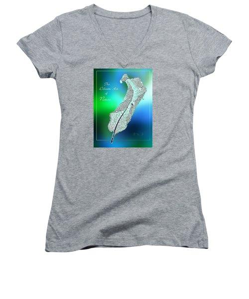 Delicate  Art Women's V-Neck T-Shirt (Junior Cut) by Hartmut Jager