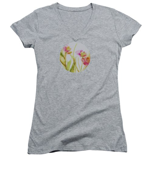 Delicate Blossoms Women's V-Neck