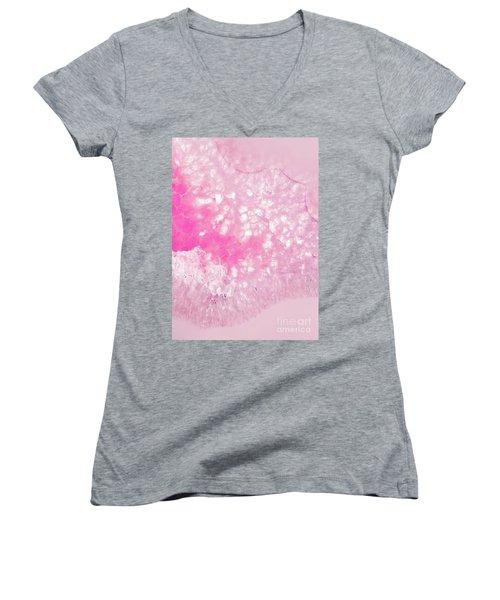 Delicate Pink Agate Women's V-Neck