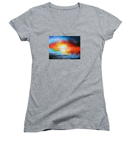 Delivered Women's V-Neck T-Shirt (Junior Cut) by Meaghan Troup